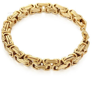 Golden Link Chain Bracelet For Men