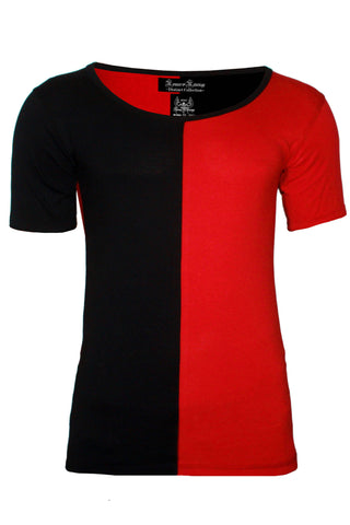 Romeo and revenge london scoop neck t-shirts half half ...