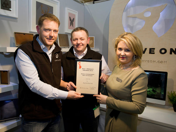 Alan and Gary McCormack recieving an award at Showcase Ireland 2013