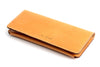Personalized tan leather Long Wallet