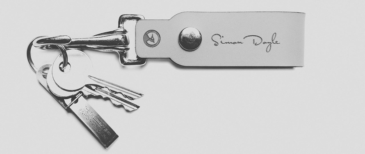 personalized leather keychain front