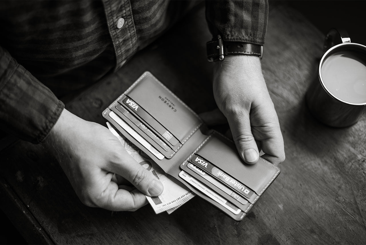 personalized leather traditional wallet by CarveOn