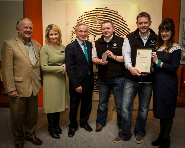 CarveOn accepting an award with Karen Hennessy at Showcase Ireland 2013