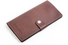 Personalized dark brown leather Travel Wallet