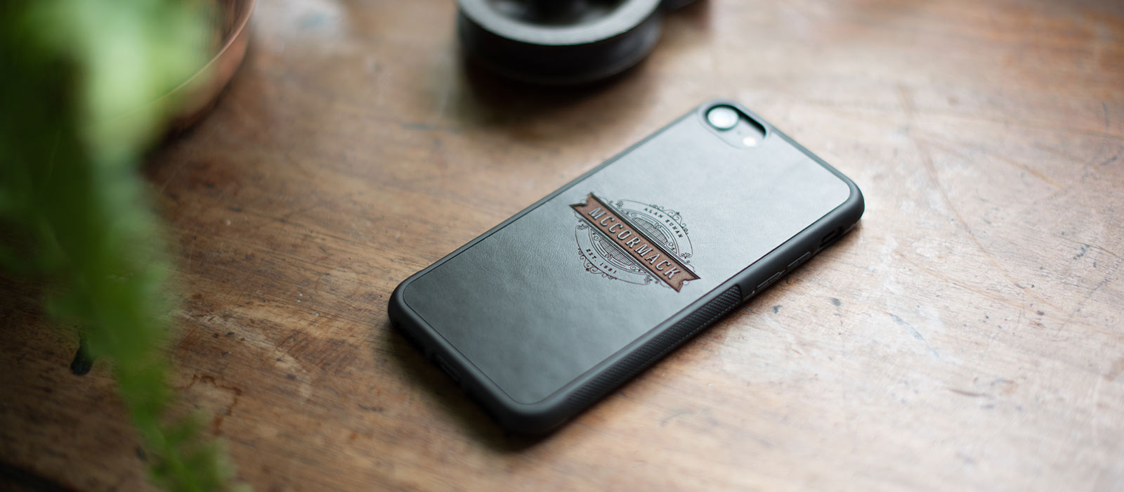 Bumper iPhone Case inset with Leather