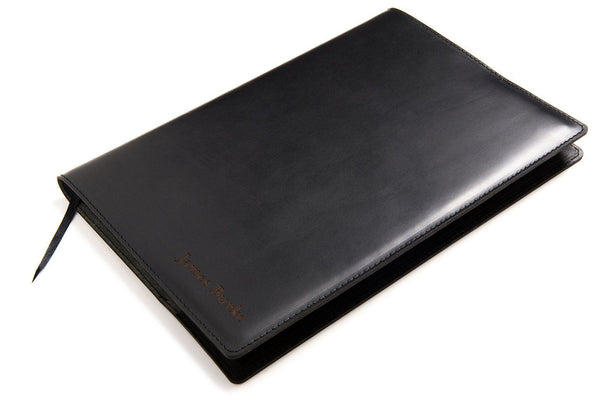 Personalised Black Leather A4 Notebook