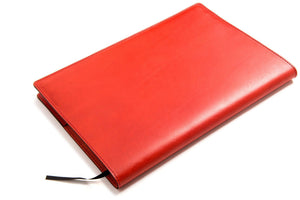 Personalised Red Leather A4 Notebook Back - Back