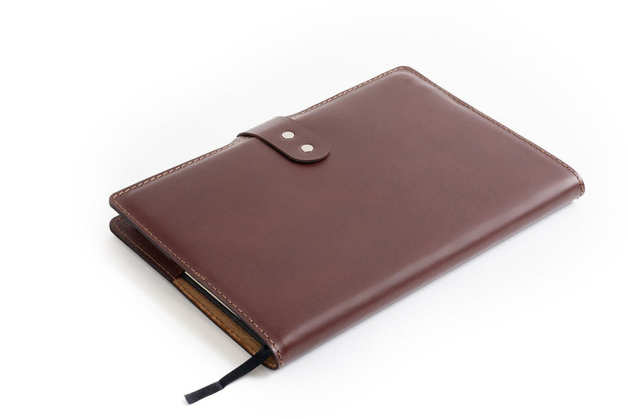 CarveOn Leather Moleskine Diary Planner Cover Dark Brown