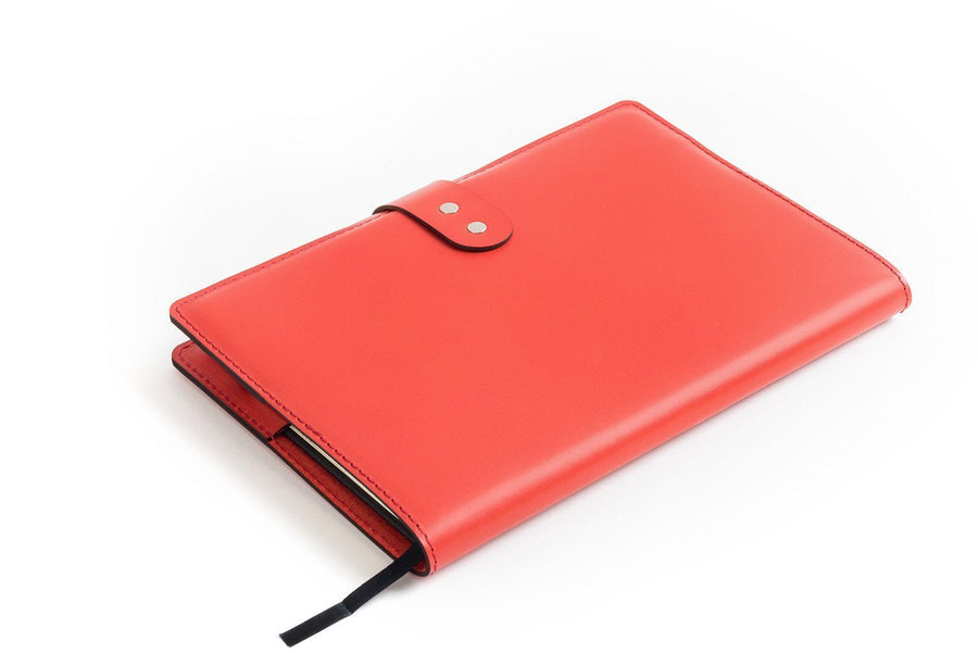 CarveOn Leather Moleskine Diary Planner Cover Red
