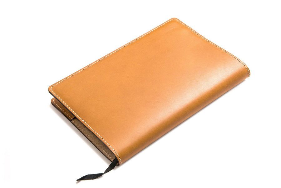 Personalized Tan Leather A5 Notebook