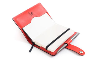 Personalised Red Leather A6 Notebook + Refill
