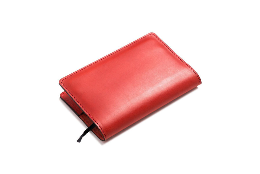 Personalised Red Leather A6 Notebook