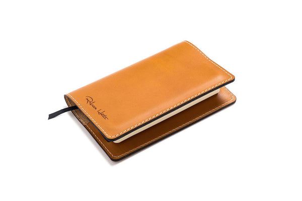 Personalized Tan Leather A6 Notebook