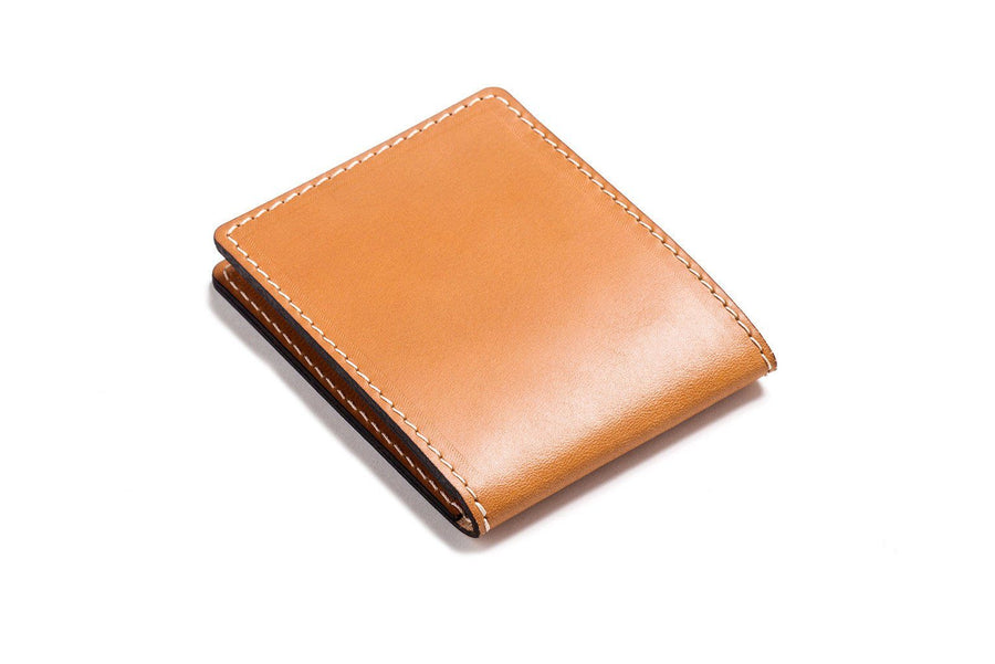 Personalised Tan Leather Slim Billfold Wallet