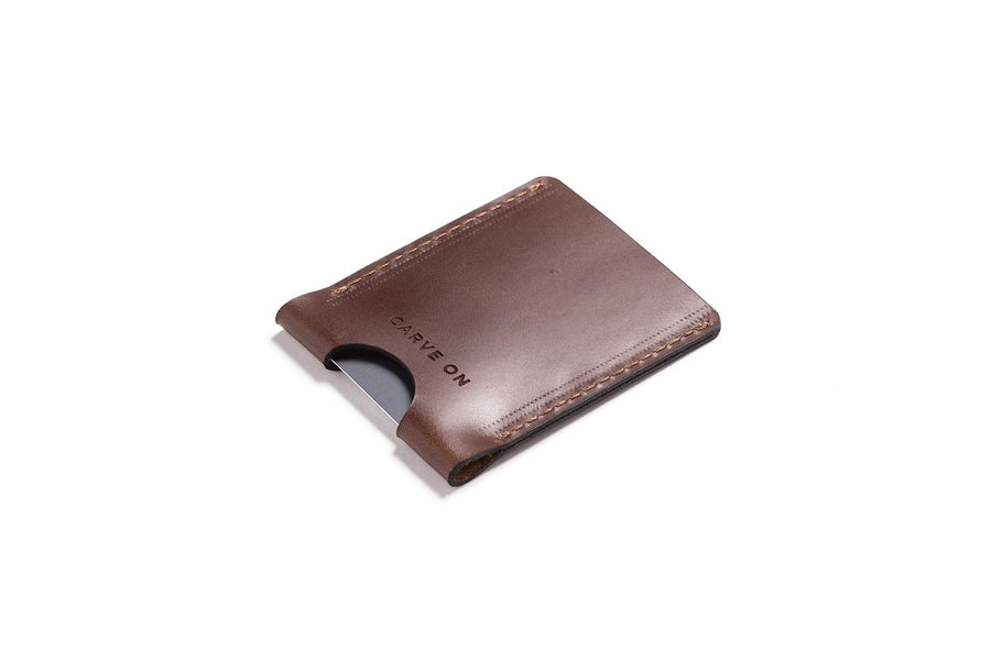 Personalised Dark Brown Leather Card Holder
