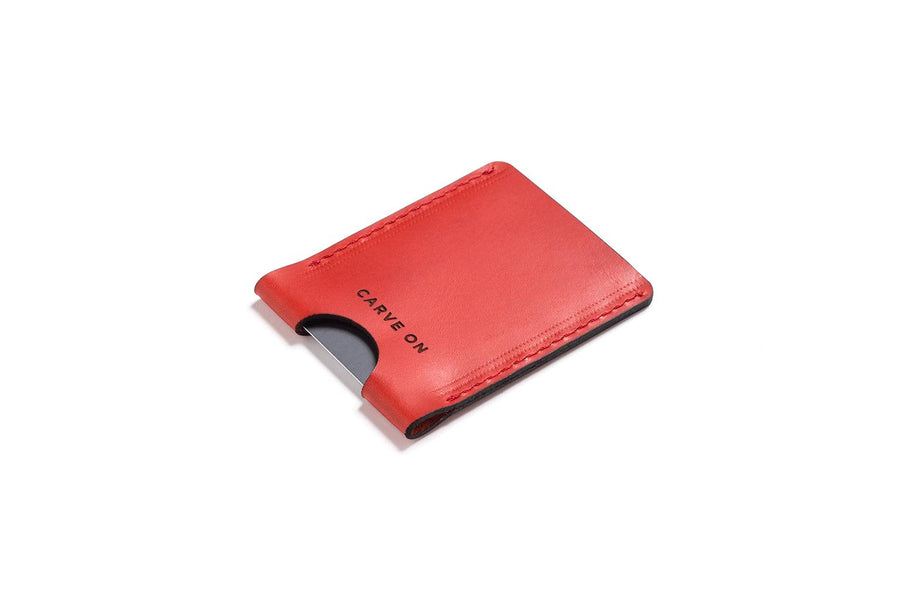 Personalised Red Leather Card Holder
