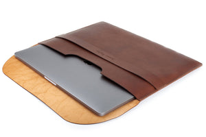 Personalized Document / Macbook Folio Dark Brown