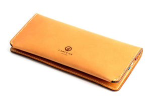 Personalised Tan Leather Long Clutch Wallet Back