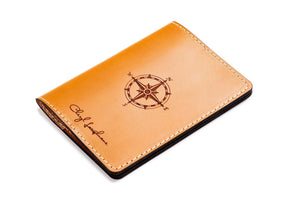 Personalized Tan Leather Passport Cover