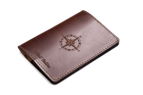 Personalised Dark Brown Leather Passport Holder Wallet