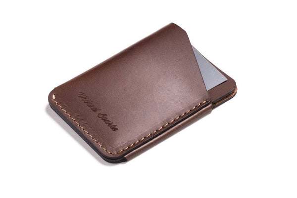 Personalized Dark Brown Leather Quick-Draw Wallet