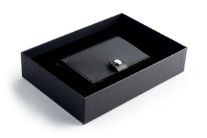RFID Wallet Black open giftbox