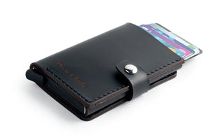 RFID Wallet Black cards top