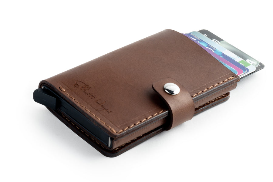 RFID Wallet Dark Brown front