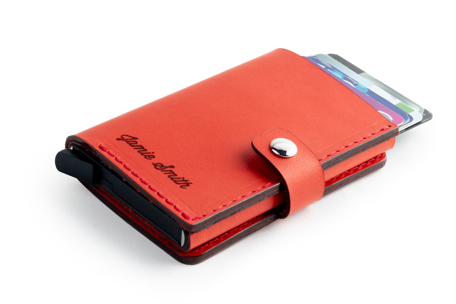 RFID Wallet Red front