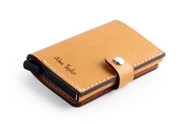 RFID Wallet Tan front