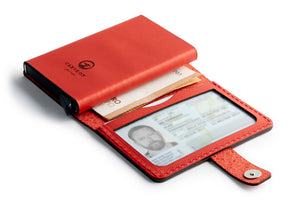 Leather RFID Wallet Open