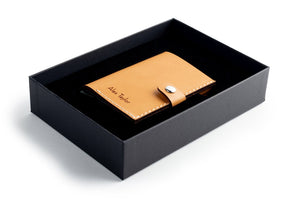 RFID Wallet Tan open giftbox