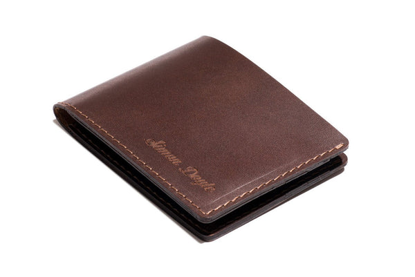 Personalised Dark Brown Leather Traditional Wallet