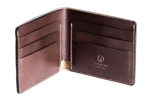 Personalised Dark Brown Traditional  Leather Wallet Interior Pockets