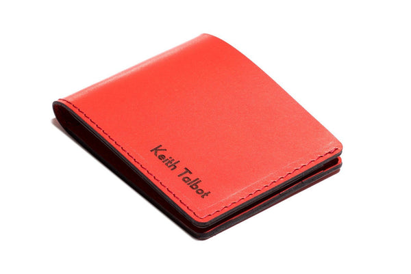 Personalised Red Leather Traditional Wallet