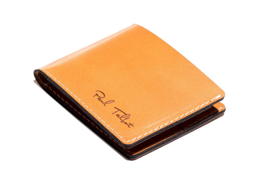 Personalised Tan Leather Traditional Wallet Open