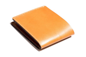 Personalised Tan Leather Traditional Wallet Back