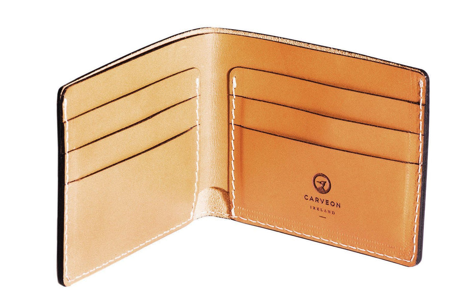 Personalised Tan Leather Traditional Wallet