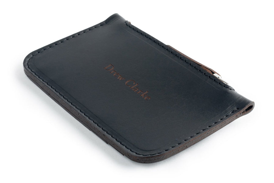 Zip Card Wallet Black Side