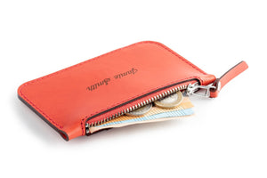 Zip Card Wallet Red Open