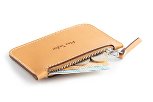 Zip Card Wallet Tan Open