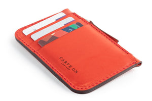 Zip Card Wallet Red Cards