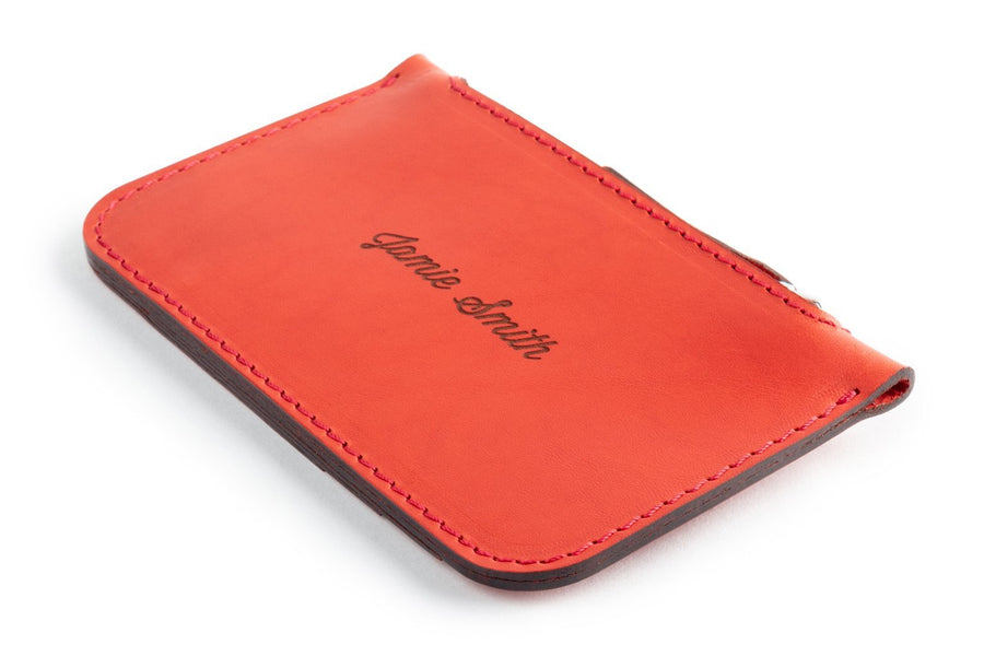 Zip Card Wallet Red Side