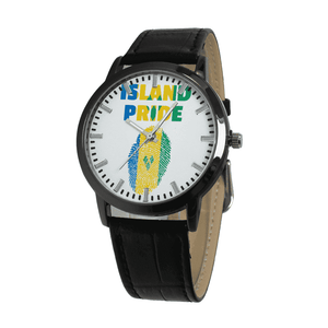 St.Vincent and the Grenadines Pride Quartz Leather Watch - Island Pride Prints