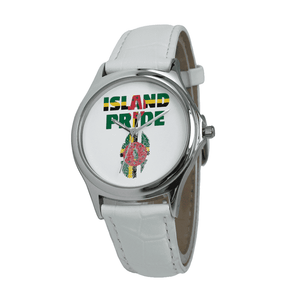 Dominica Pride Quartz Leather Watch - Island Pride Prints