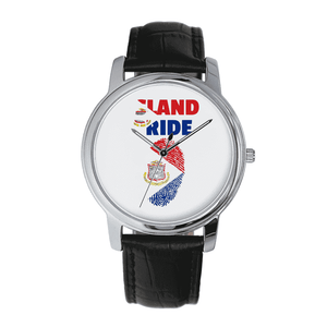 St. Maarten Pride Quartz Leather Watch - Island Pride Prints