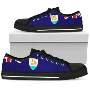 Anguilla Pride Men's Low Top Shoes Black Sole Edition - Island Pride Prints