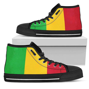 Ice Gold & Green Men's High Top shoes Black Sole Edition - Island Pride Prints