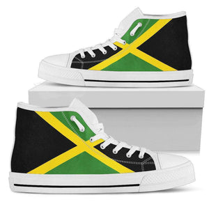 Jamaica Pride Men's High Top shoes Black Sole Edition - Island Pride Prints