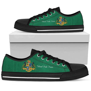 Dominica Pride  Low Top Shoes Black Sole Edition - Island Pride Prints